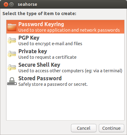 Adding a new ssh-key with seahorse on Ubuntu