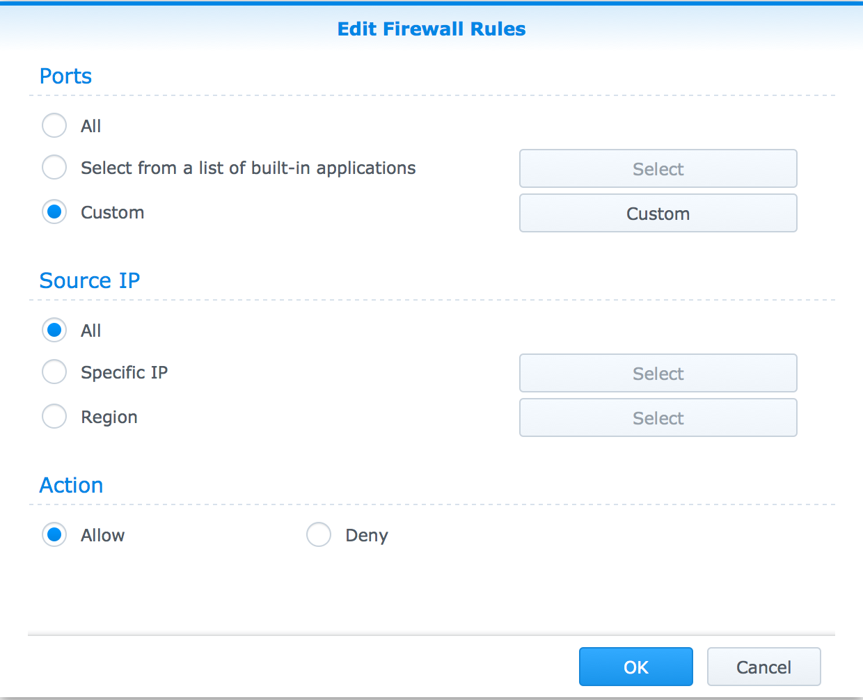 How to allow incoming pings through Synology Firewall